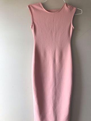 PINK DRESS/OPEN BACK/S