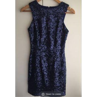 (New without tag) Stunning New Look Purple Sequins Dress  M/L Size