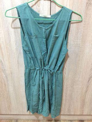 🚚 背心薄荷綠腰身綁帶洋裝