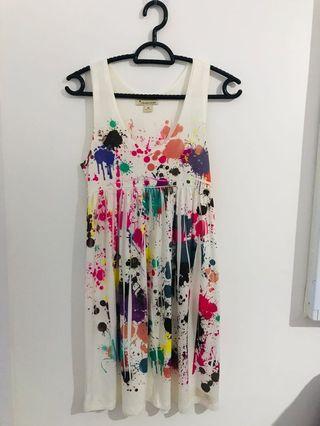 Preloved F21 Paint Splash Dress