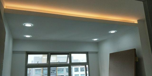 False ceiling with lighting
