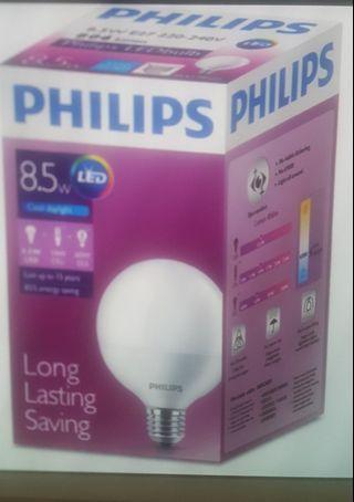 Philips LED 悭電膽 (白光x2, 黃光x4) 每個$30