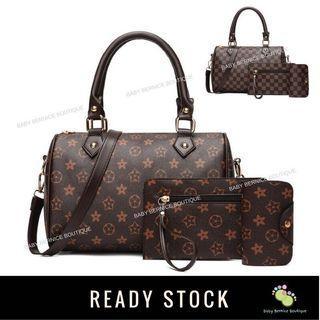 Sling Bag Set 3 in 1 Boston Inspired Handbag Shoulder Bags Bag Beg Purse