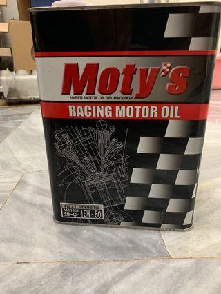 Racing Engine oil Moty,Fully Synthetic make in Japan
