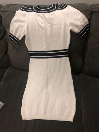 Cotton knitted dress (bk lug)