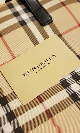 Authentic Burberry Nova Check Bucket Bag