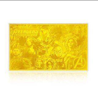 🚚 Marvel復仇者聯盟限量999.9黃金金卡