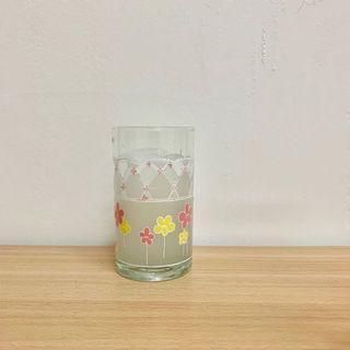 🚚 復古小花玻璃杯