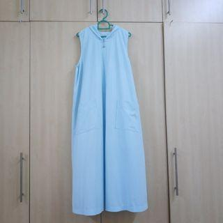 Baby Blue Dress with Hoodie