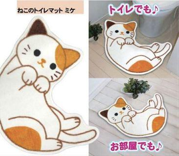Cute white cat mat!