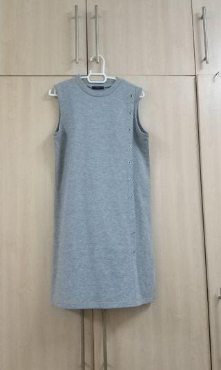 Grey Dress with Metal Accents