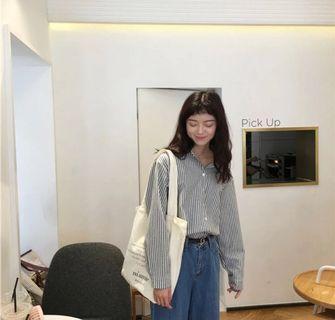 Blue striped blouse