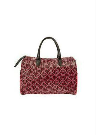 Mischa burgundy red small overnighter