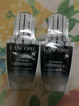 包平郵 $10/2包x1ml  Lancome Advanced Génifique Concentrate Serum  升級版嫩肌活膚精華肌底液