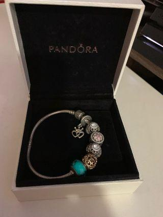Pandora Bracelet 19 cm with 6 charm AUTHENTIC