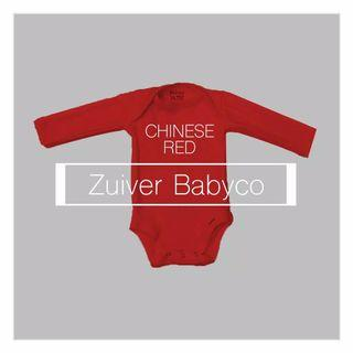 Zuiver Chinese Red Long Sleeve Bodysuit