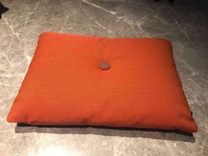 HAY orange dot cushion