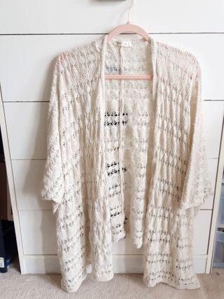 Cream beach cover up knit