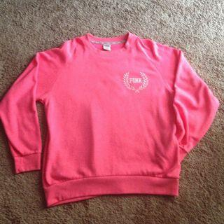 VS pink crew neck sweater