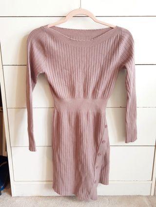 Mauve sweater dress