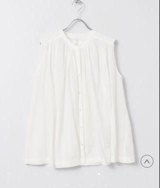Sense of place 無袖碎摺背心 Gathered blouse