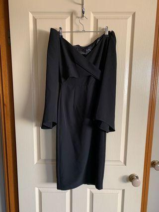 Bardot Size 6 Black Dress