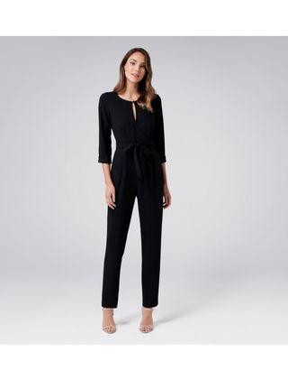 BNWT Ever New Joni wrap jumpsuit in black