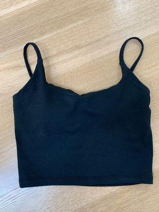 Cropped Cross Back Workout Tank