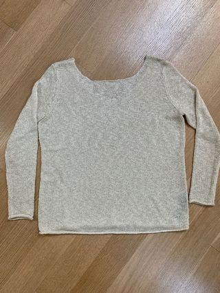 Zara loose summer knit sweater — cream or black