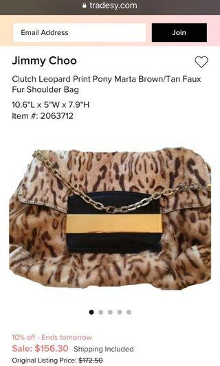 Auth Jimmy choo Marta clutch bag x Chanel