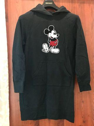 Uniglo Mickey Hoodie Dress