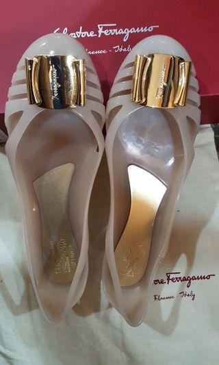 Preowned Authentic Ferragamo Jelly Shoe