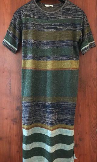 H&M Shimmer Shirt Dress