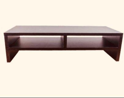 雙層桌上置物架 收納一把罩(櫸木色)