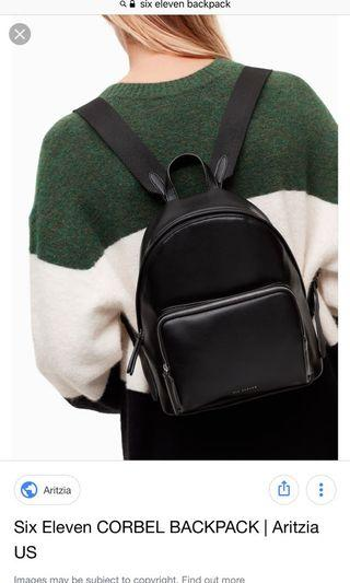 Brand new six eleven backpack from aritzia