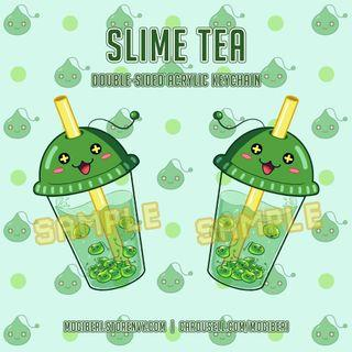Maplestory Slime Tea Double-sided Acrylic Keychain