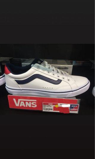 Vans Weekly Court White Navy Red NEW!