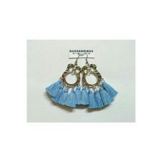 Anting panjang / anting hijab / anting owl tassel