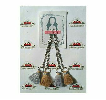 Anting hijab / anting panjang / anting two tassel