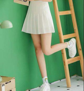 Skater Pleated White Skirt