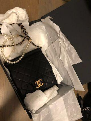 Chanel  flap Bag 珍珠帶