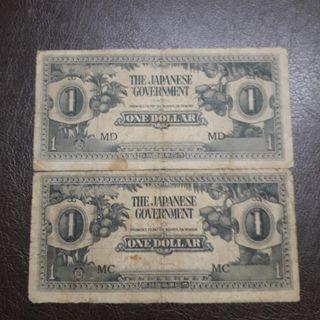 JIM Malaya 1 Dollar MC&MD 1942-1945