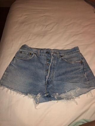 authentic levis 501 highwaisted shorts hws