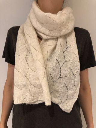 Cashmere wool blend scarf