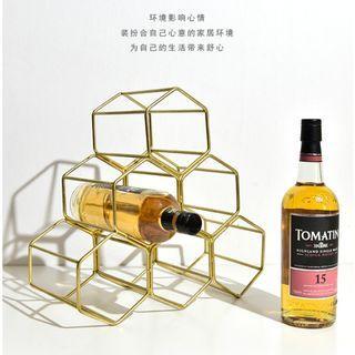 Great Singapore Sales !! Gold Nordic Metal Wine Bottle Holder
