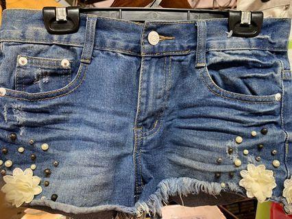 🚚 牛仔短裤 女生韩版牛仔短裤