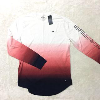 L : Hollister Rare Gradient Long Sleeve Tee