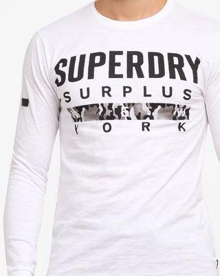 L, XL : Superdry Signature Long Sleeve Tee