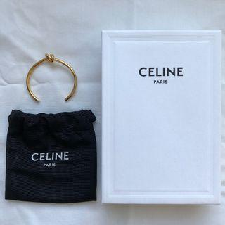 CELINE KNOT EXTRA-THIN BRACELET IN BRASS WITH GOLD FINISH (Size is C1)