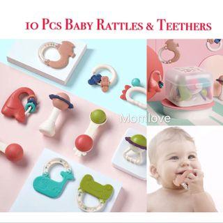 Brand New in Box Babycare Baby Rattle Infant Motor Skill Development Toy 0-1 year old Newborn 10 Pcs Rattles & Teethers - Teething Toy 0-3-6-12 months